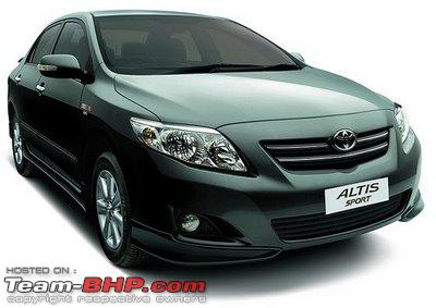 Toyota Corolla Altis Sport–2010 Limited Edition Features