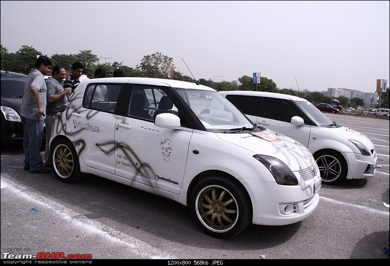 Maruti Swift trying to set a Guinness Record. Edit: Badly Organized. Details on Pg 4-_mg_3207.jpg