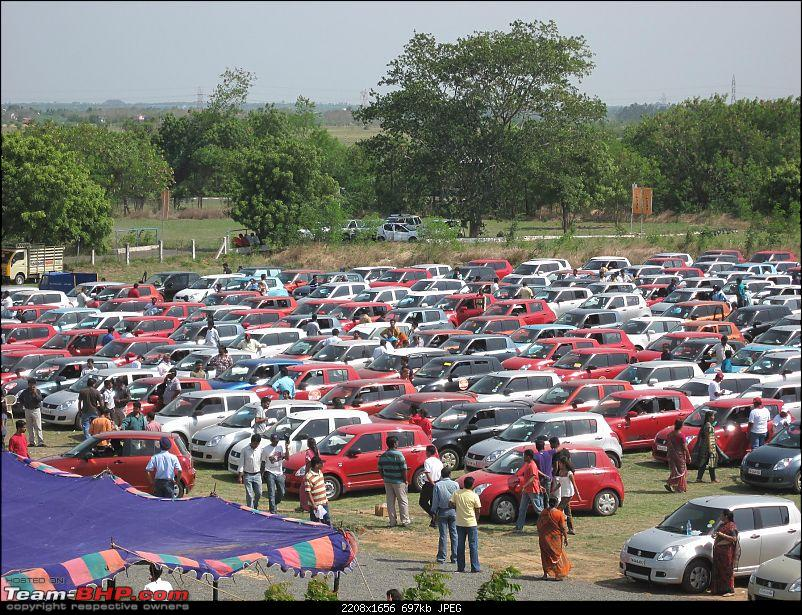 Maruti Swift trying to set a Guinness Record. Edit: Badly Organized. Details on Pg 4-swift-event-072.jpg