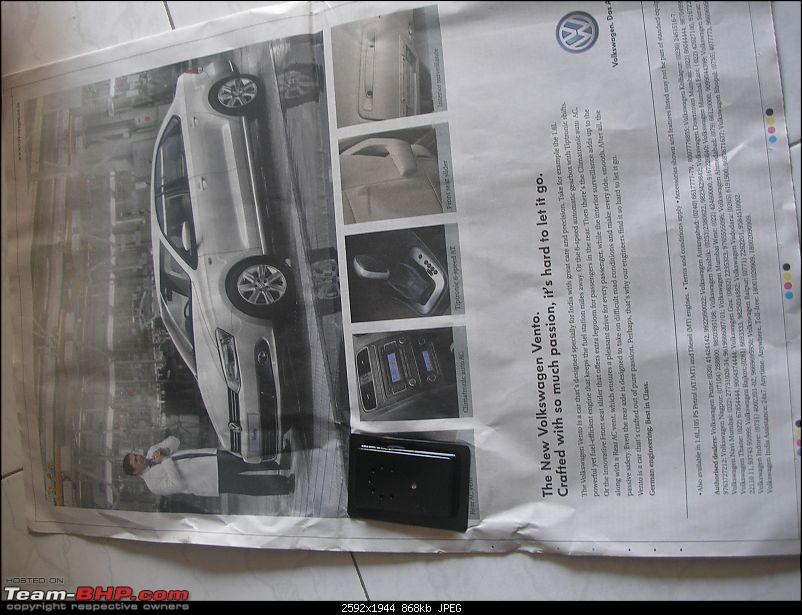 Times of India? Nope, VW of India. EDIT: Vibrating ad on 11 Sept 2012 (Pg 26)-p1010382.jpg