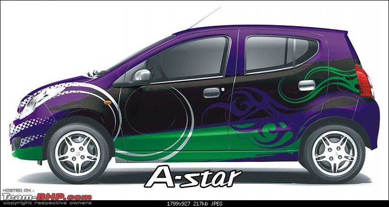 Maruti A-Star : Now with a choice of 16 body wrap stickers!-enigma.jpg