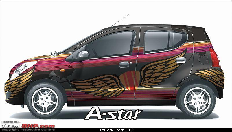 Maruti A-Star : Now with a choice of 16 body wrap stickers!-freedom.jpg