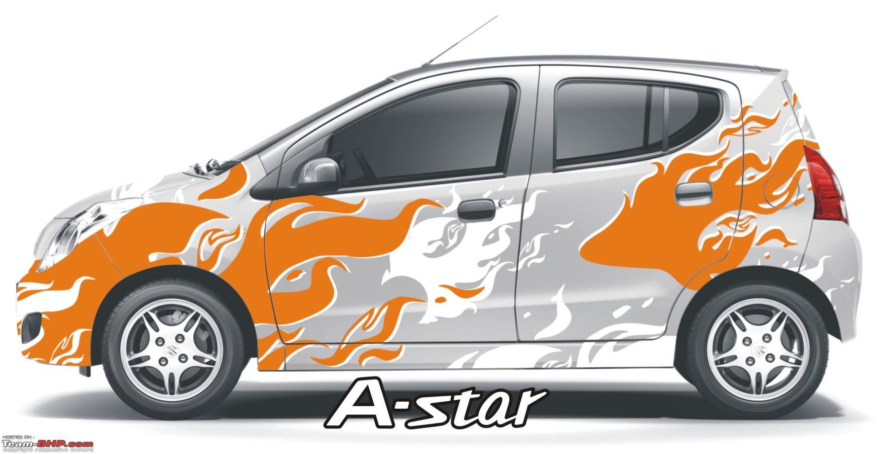 Car sticker design in bangalore - Maruti A Star Now With A Choice Of 16 Body Wrap Stickers