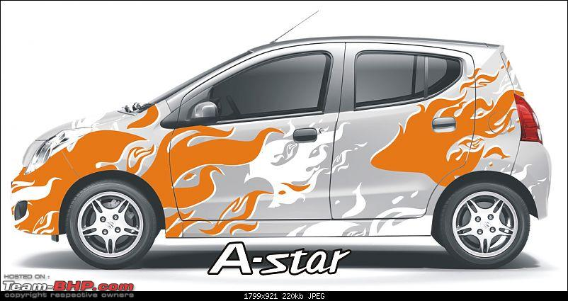 Maruti A-Star : Now with a choice of 16 body wrap stickers!-passionate.jpg