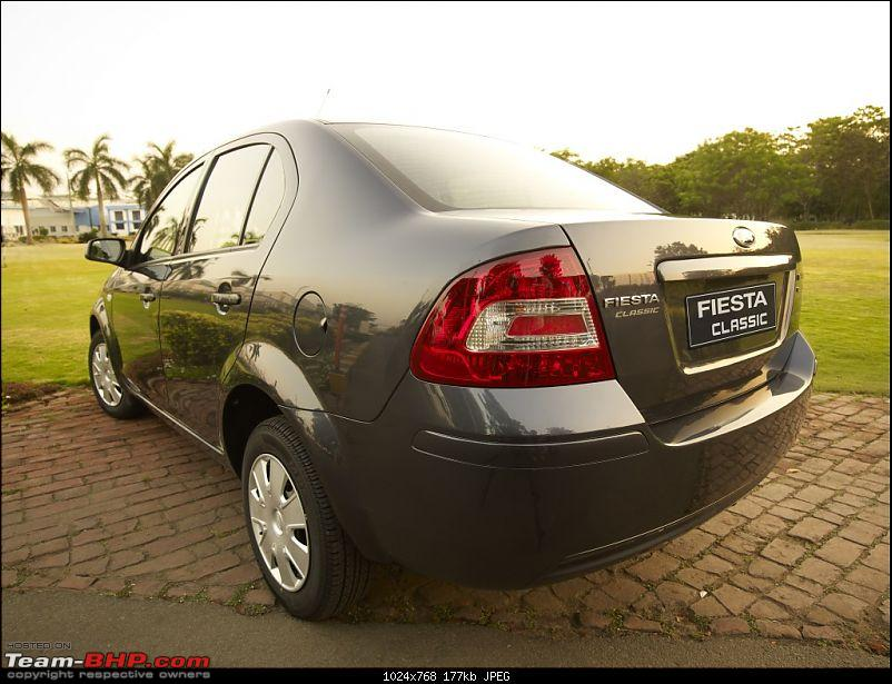 Ford Fiesta Classic Spotted. EDIT : Now launched!-fordfiestaclassicrear_1.jpg