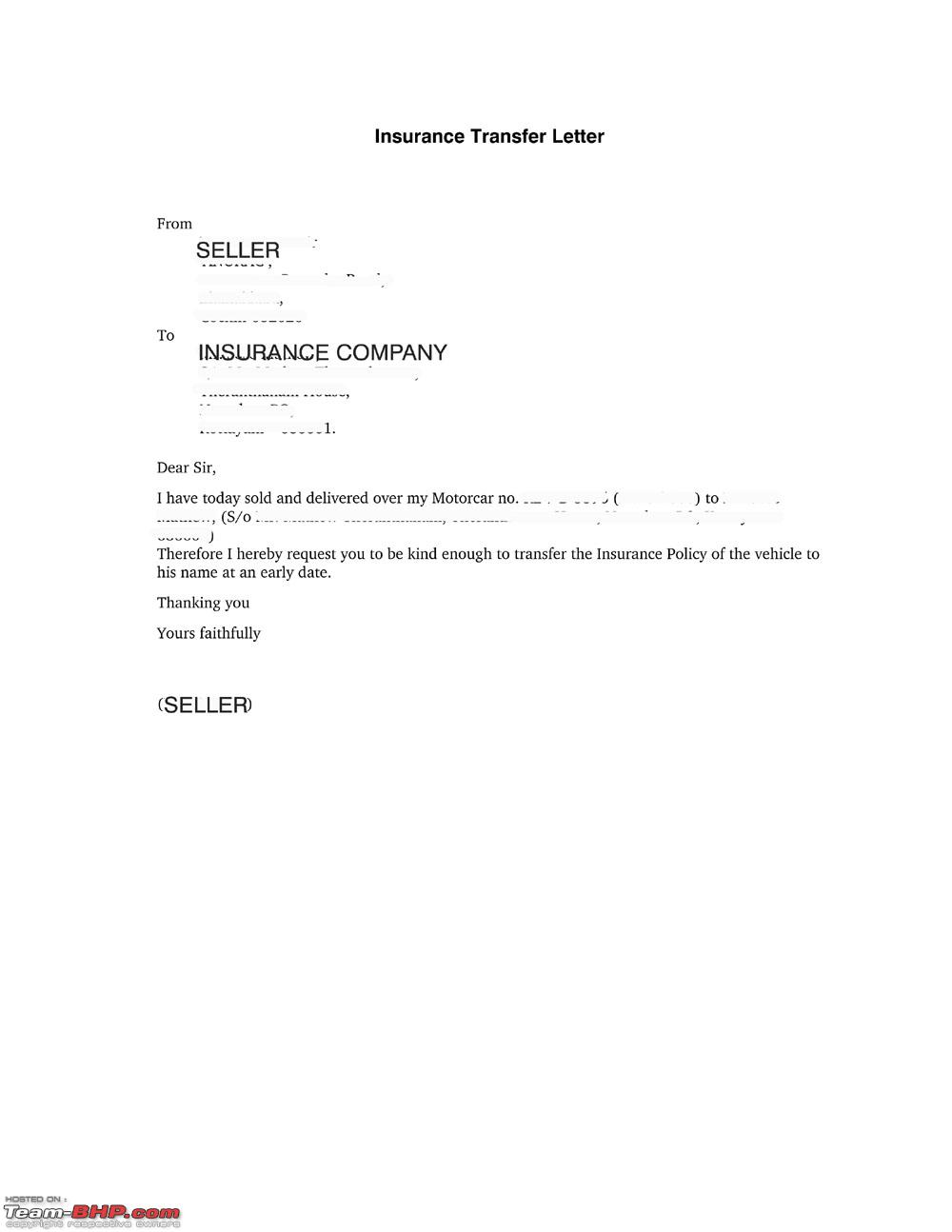 Need advice car sold but not transferred page 2 team bhp for Rto partnership agreement template