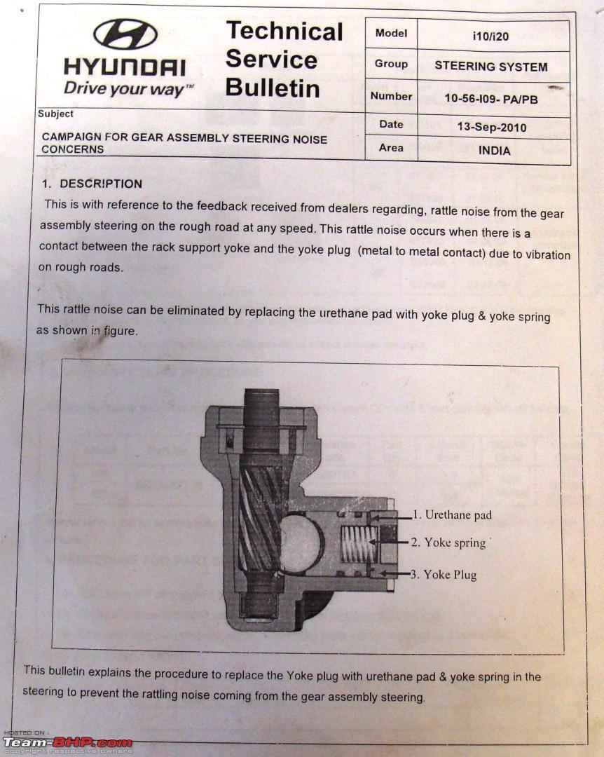 Hyundai i10-i20 Steering yoke plug issue (Updated part is