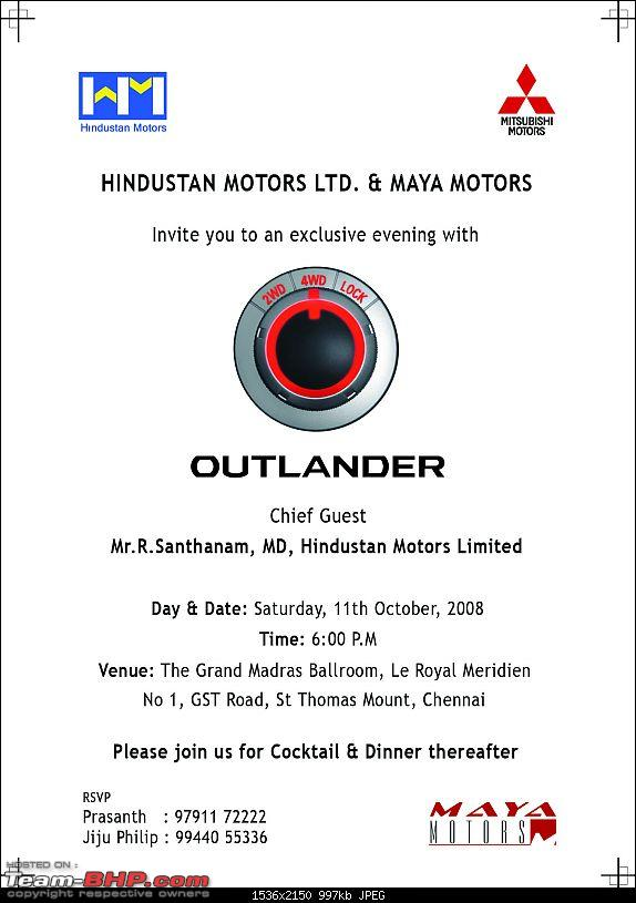 Mitsubishi Outlander launch invite for CHN BHPians Edit: NOW HYD on Oct 17-outlanderinvite.jpg