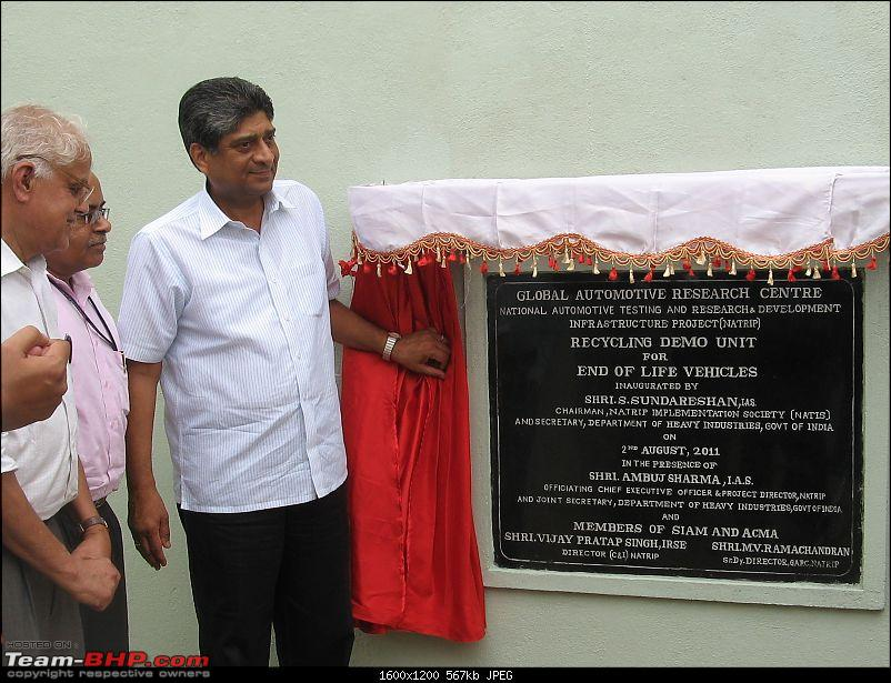 Recycling Demo & Training Centre inaugurated at GARC Chennai-s-sundareshan-unvieling-plaque-garc-chennai.jpg