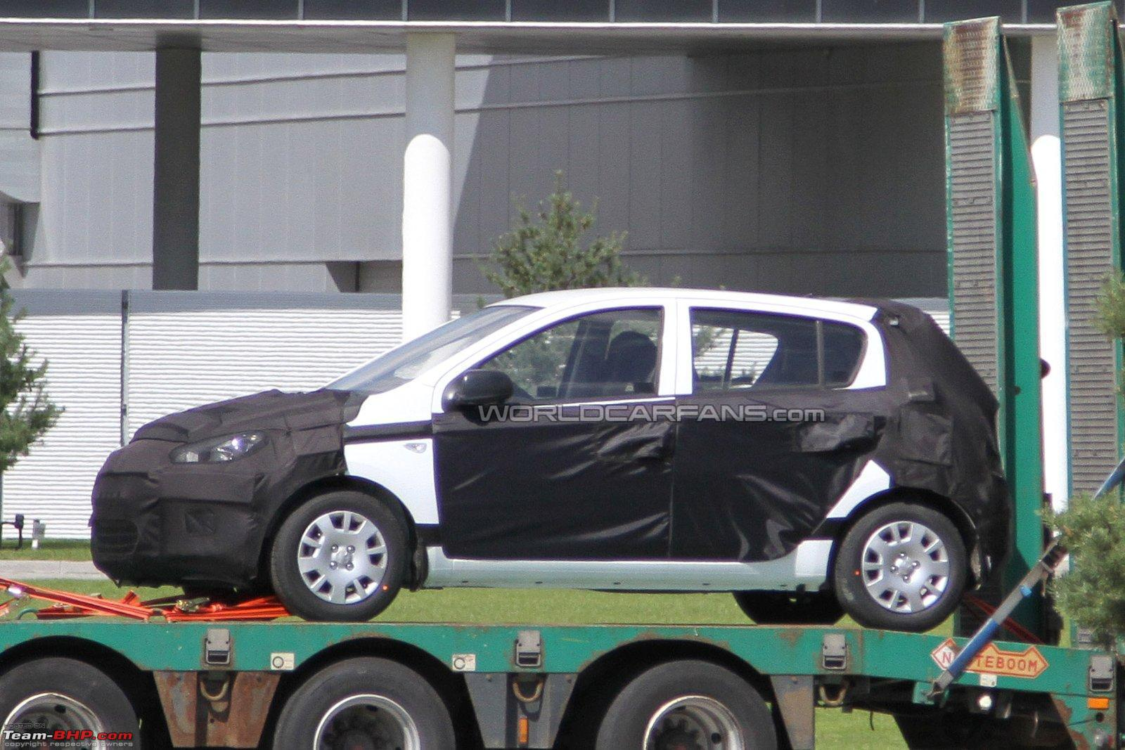 Hyundai i20 face lift 2012 spotted for the first time in india on