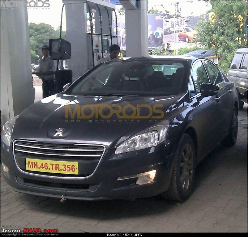 SCOOP Pics : Peugeot (207, 508) spotted testing on the MH Expressway-peugeot508india.jpg