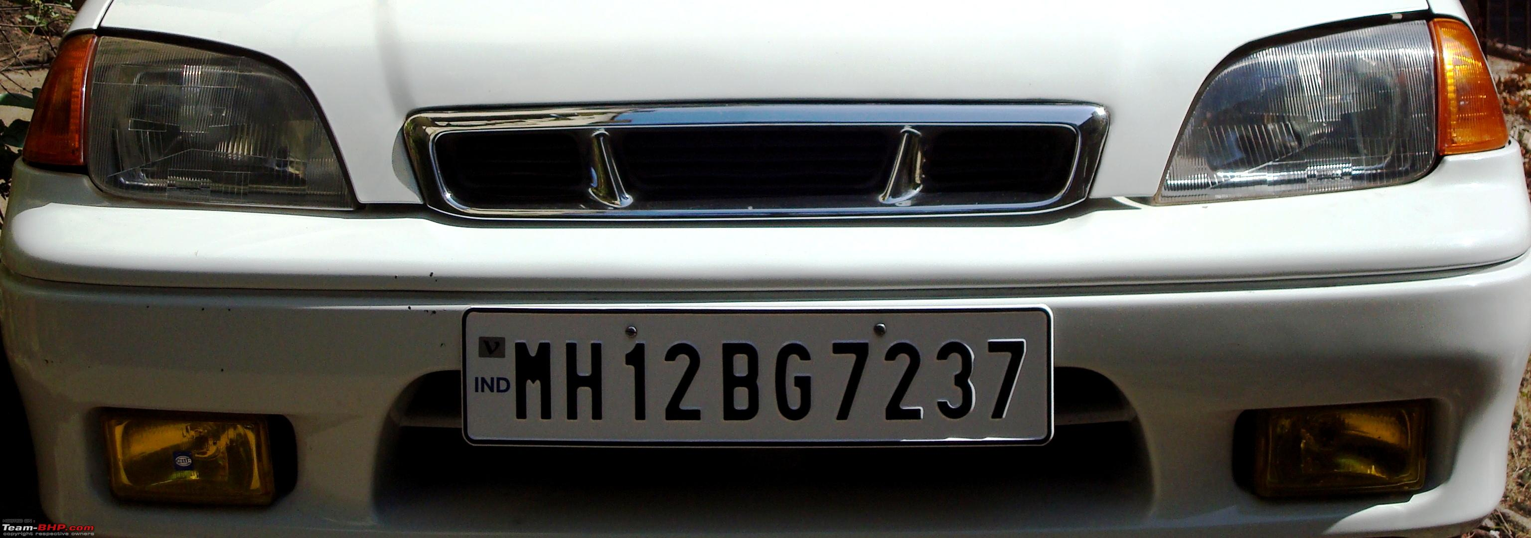 Car colour number plate - High Security Registration Plates Hsrp In India Number Plate Jpg