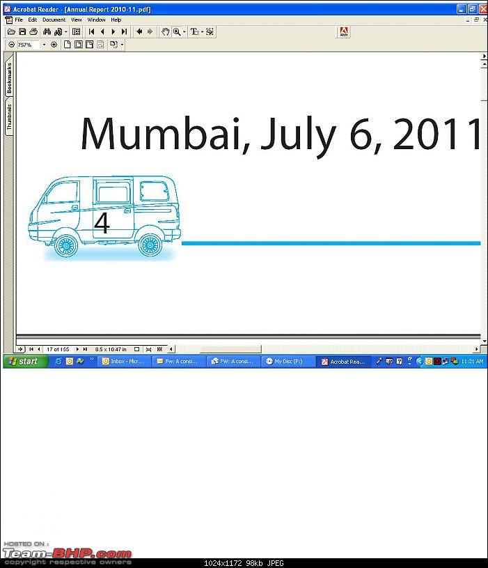 Blunder of 2011: Tata Motor's Annual Report uses Mahindra Maxximo images on each page-tata_report.jpg