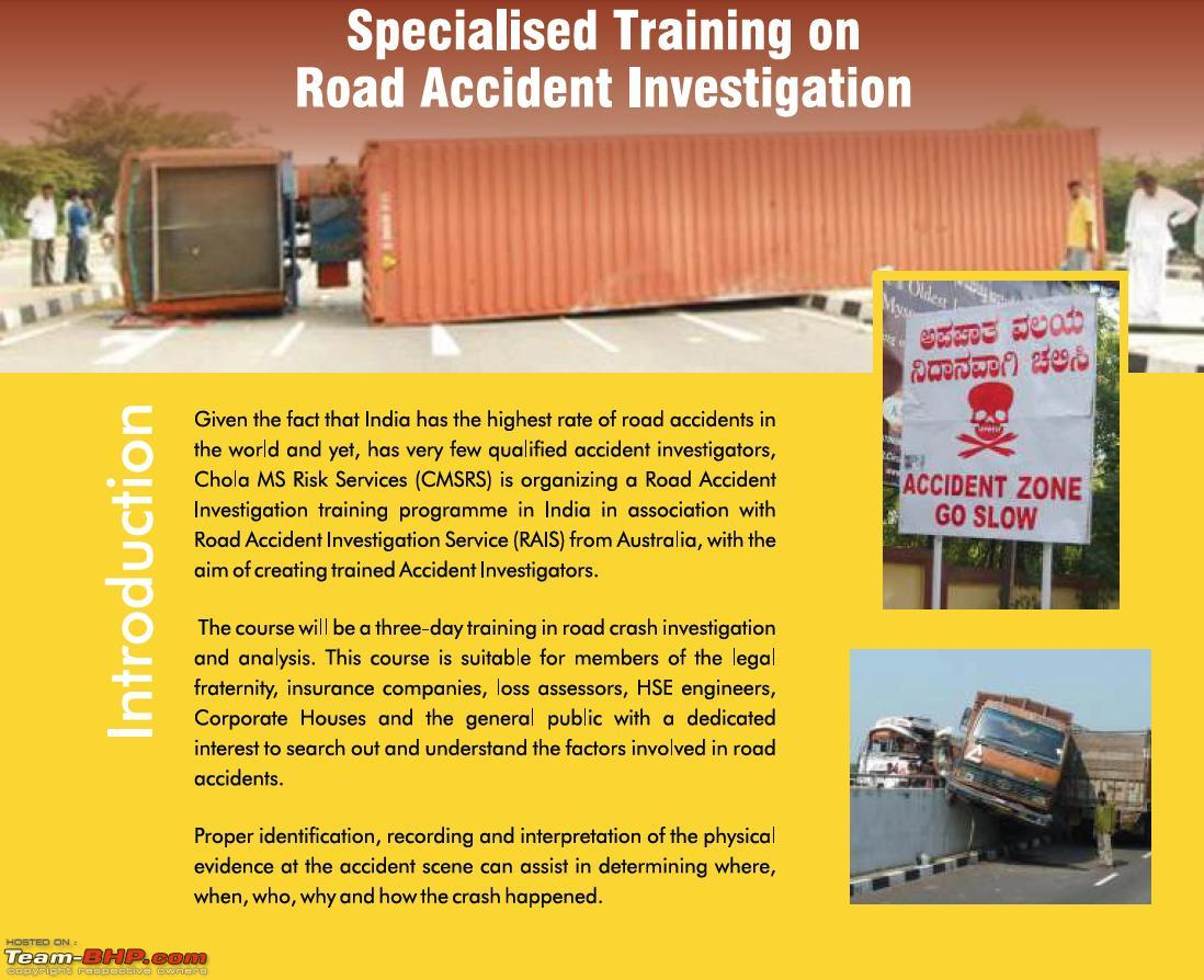 A Course on Road Accident *Investigation* and *Analysis* - Team-BHP