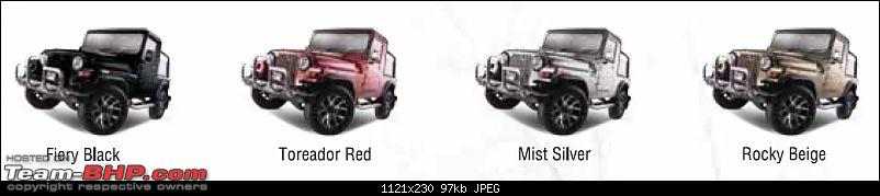 All Indian SUVs & MUVs : Compared!-thar-colours.jpg