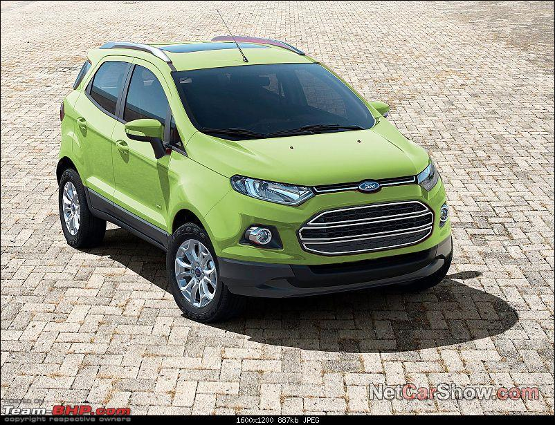 Ford EcoSport Preview @ Auto Expo 2012. EDIT : Indian Spy Pics on Pg. 33-fordecosportgreen.jpg