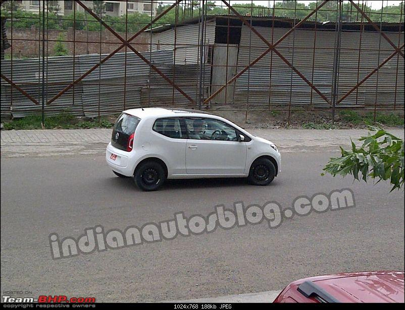 vw up spotted testing in pune totally undisguised 2 and 4 door versions spotted page 5. Black Bedroom Furniture Sets. Home Design Ideas
