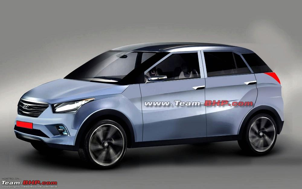 team bhp possible 2015 hyundai compact suv spyshots surface. Black Bedroom Furniture Sets. Home Design Ideas