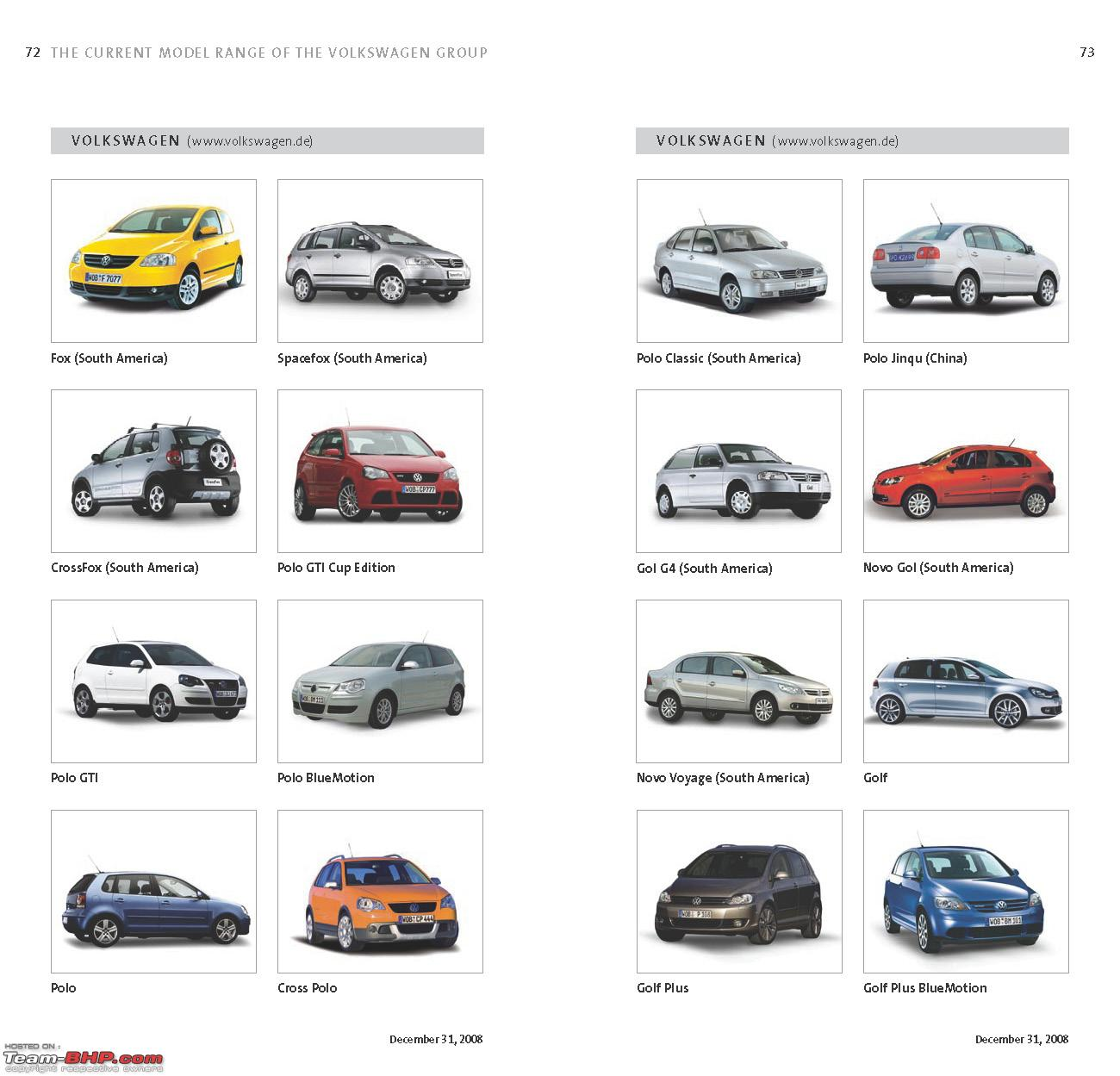 Complete List Of Vw Group S Models Sold Worldwide Team Bhp