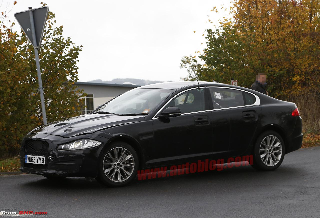 2nd Gen Jaguar XF Test Mules, Spotted Testing In Germany  0032016jaguarxfspyshots1