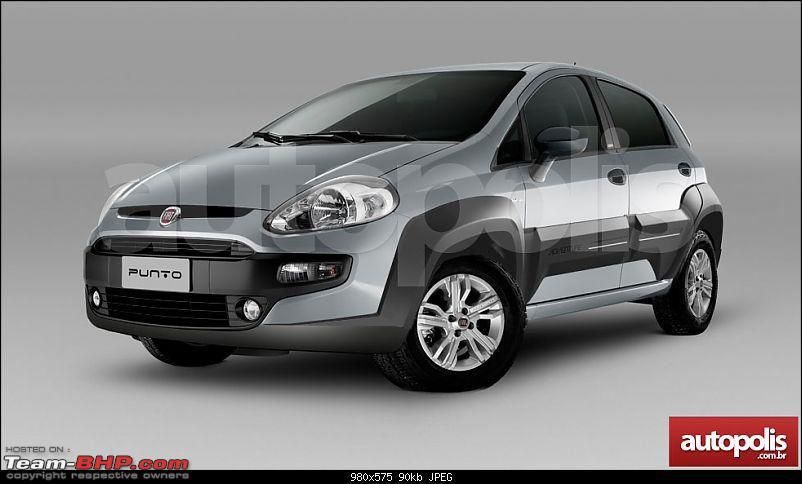 Fiat Punto Adventure spied. Auto-Expo unveil?-fiatpuntoadventurenewrenderingfront.jpg