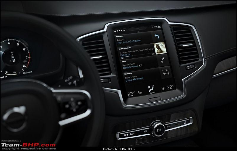 Safety innovations to be introduced with the Next Generation Volvo XC90-2015volvoxc90androidautopressshot1024x636.jpg