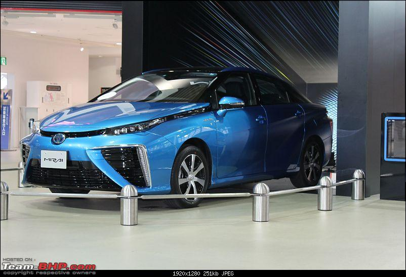 Japan Report: Toyota Mirai Hydrogen Fuel Cell Car, and Toyota's Safety Technology-blue-car.jpg