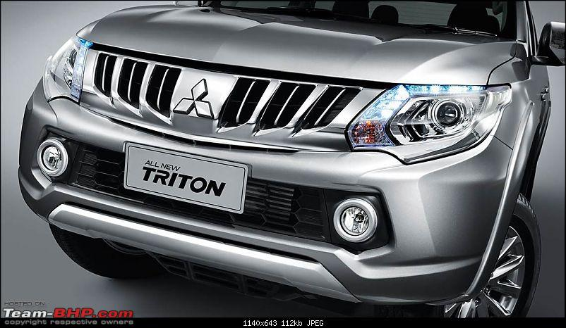 Mitsubishi Triton Facelift - Possibly a new face for the Pajero Sport?-mitsubishitriton2015revealed1.jpg