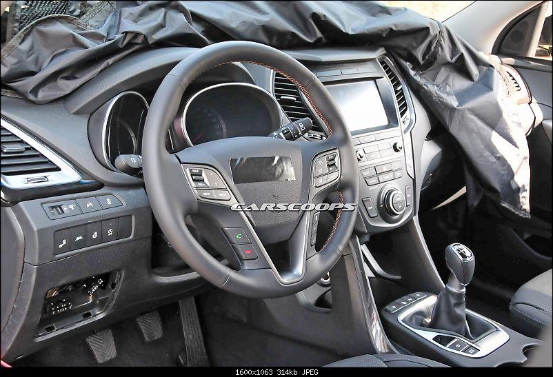 Hyundai Santa Fe facelift spotted testing in Korea-2016hyundaisantafefl7.jpg