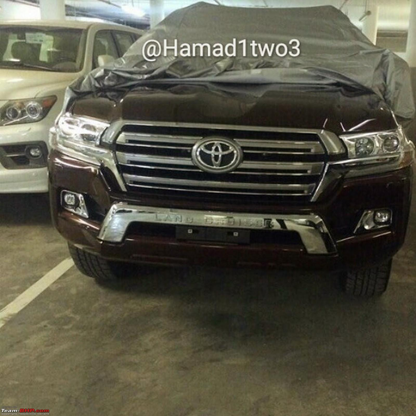 2016 toyota land cruiser pics leaked edit launched in india at rs 1 29