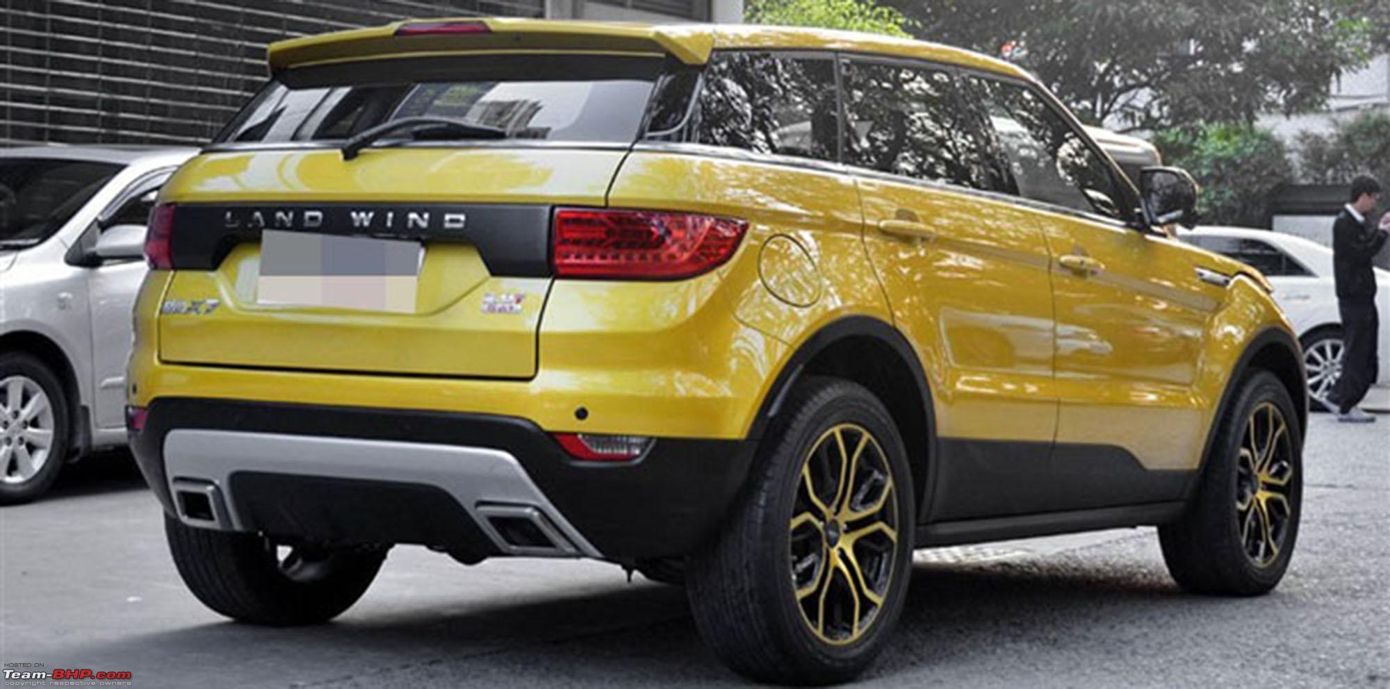 landwind x7 range rover evoque clone launched in china team bhp. Black Bedroom Furniture Sets. Home Design Ideas