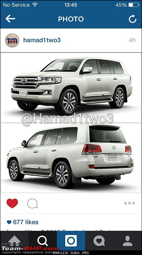 2016 Toyota Land Cruiser - Pics leaked. EDIT: Launched in India at Rs 1.29 cr-imageuploadedbyteambhp1439799418.568734.jpg