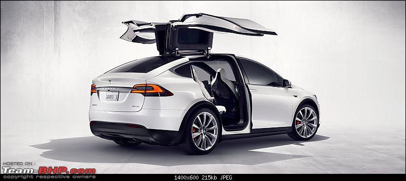 Tesla Model X Electric Cuv Launch In 2015 Team Bhp