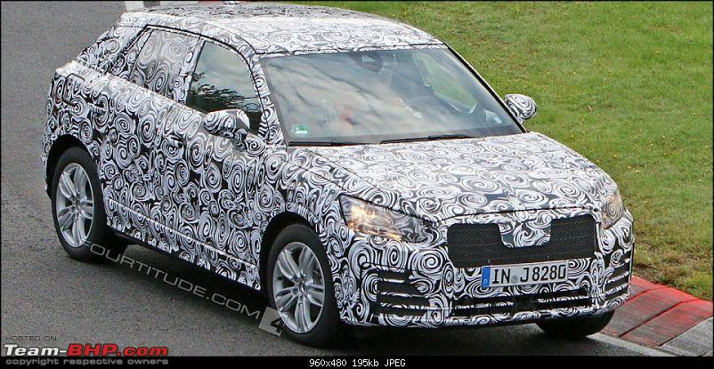Audi to launch baby SUV in 2016. EDIT: Could be called Q2-audiq2testmule4923960x480.jpg