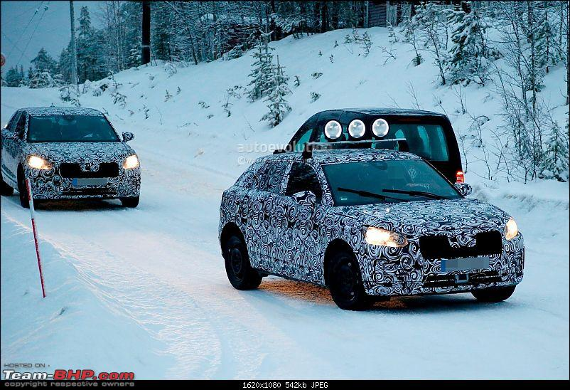 Audi to launch baby SUV in 2016. EDIT: Could be called Q2-spyshots2017audiq2beginswintertestingwithfwdandawd_7.jpg