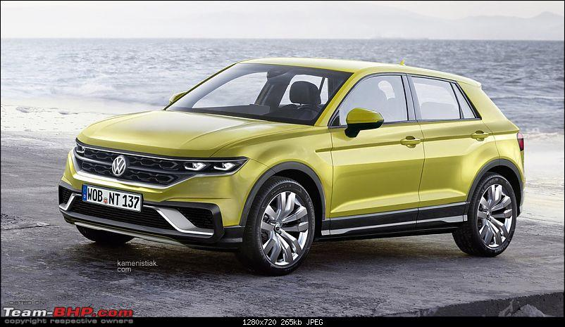 Volkswagen T Cross - A compact crossover based on the Polo. EDIT: Now unveiled-vwpolobasedcrossoverrendering.jpg