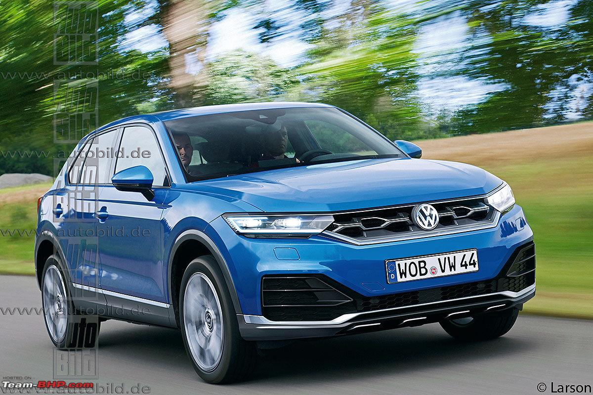 volkswagen t roc suv based on the golf platform team bhp. Black Bedroom Furniture Sets. Home Design Ideas