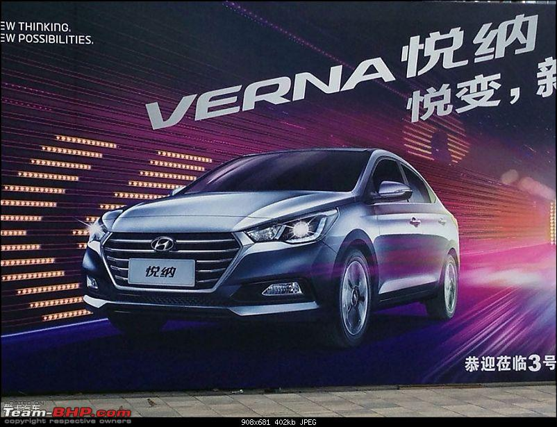 SPIED: Next-generation 2017 Hyundai Verna. EDIT: Unveiled in China-2017hyundaivernafrontrevealedviaposteraheadofdebutinchina.jpg
