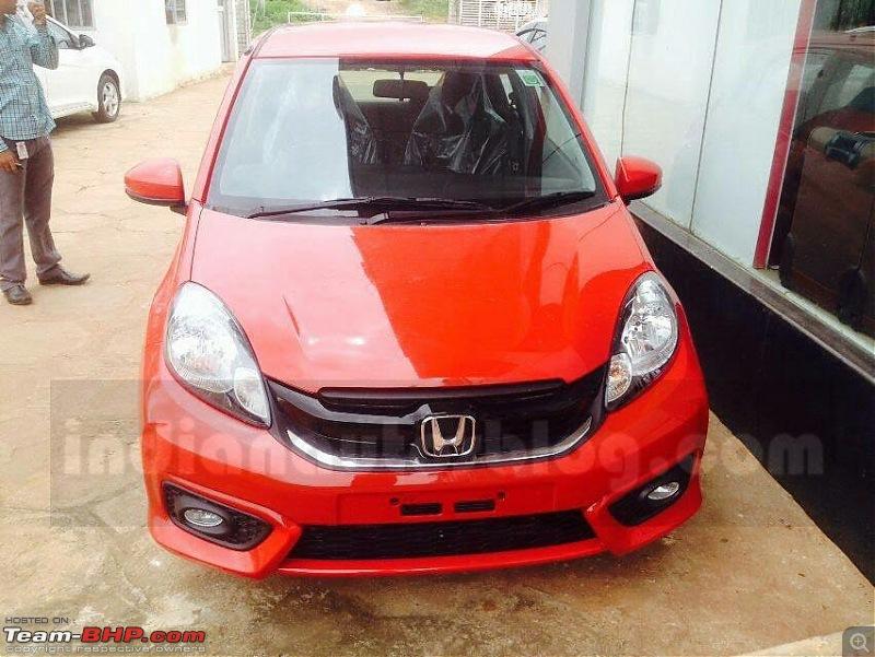 Indonesia: Honda Brio facelift unveiled-hondabriofrontfaceliftarrivesatindiandealershipaheadoflaunch.jpg