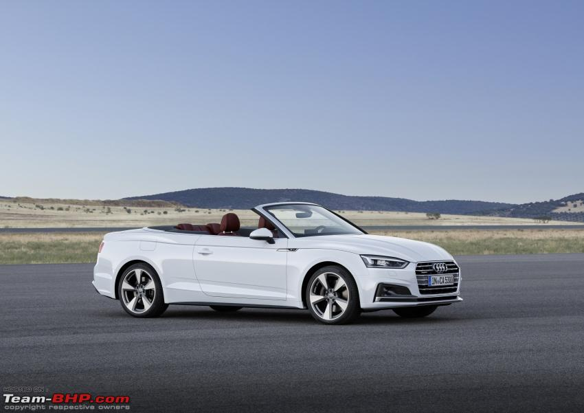 team bhp 2017 audi a5 cabriolet revealed. Black Bedroom Furniture Sets. Home Design Ideas