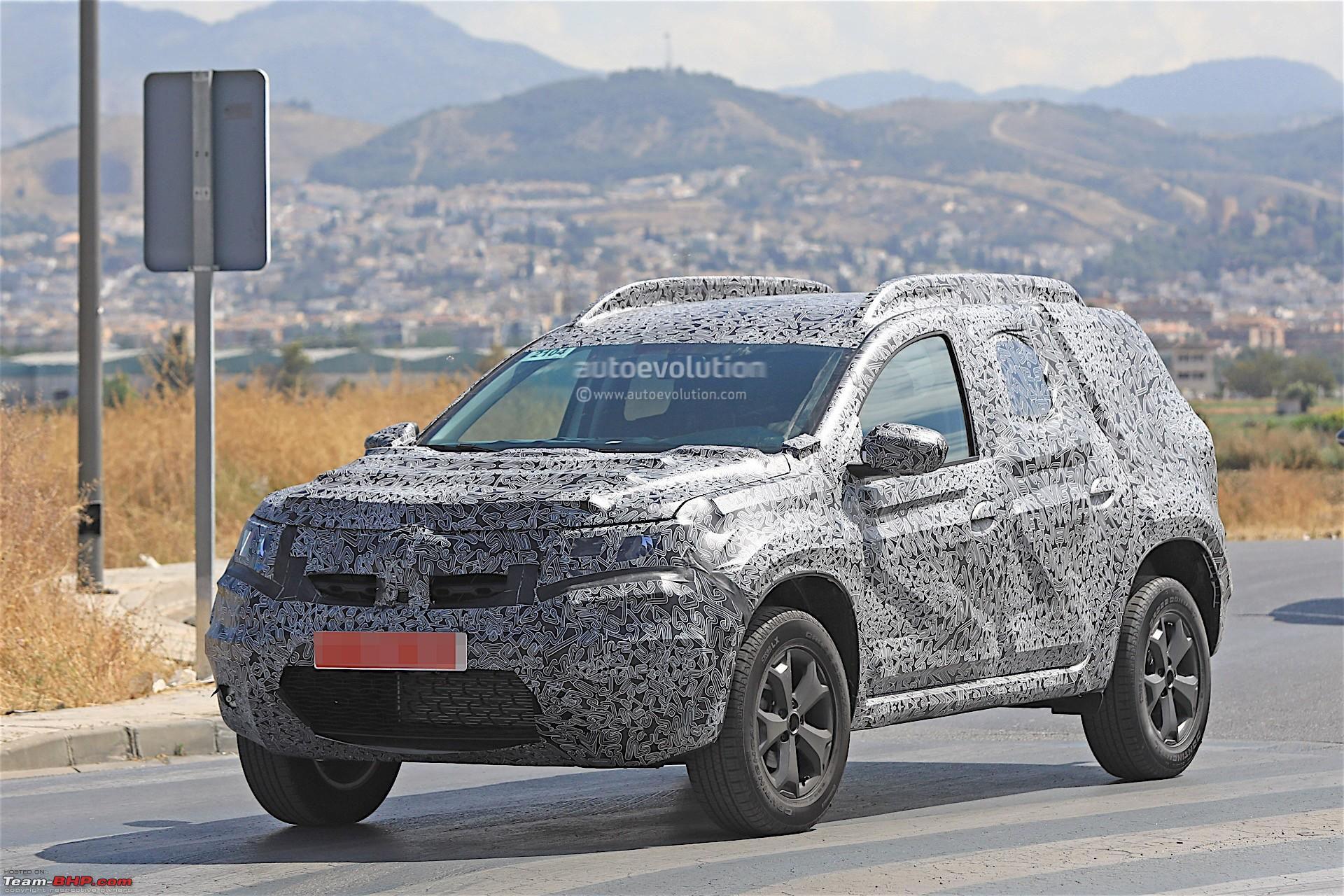 next generation renault dacia duster caught testing page 3 team bhp. Black Bedroom Furniture Sets. Home Design Ideas
