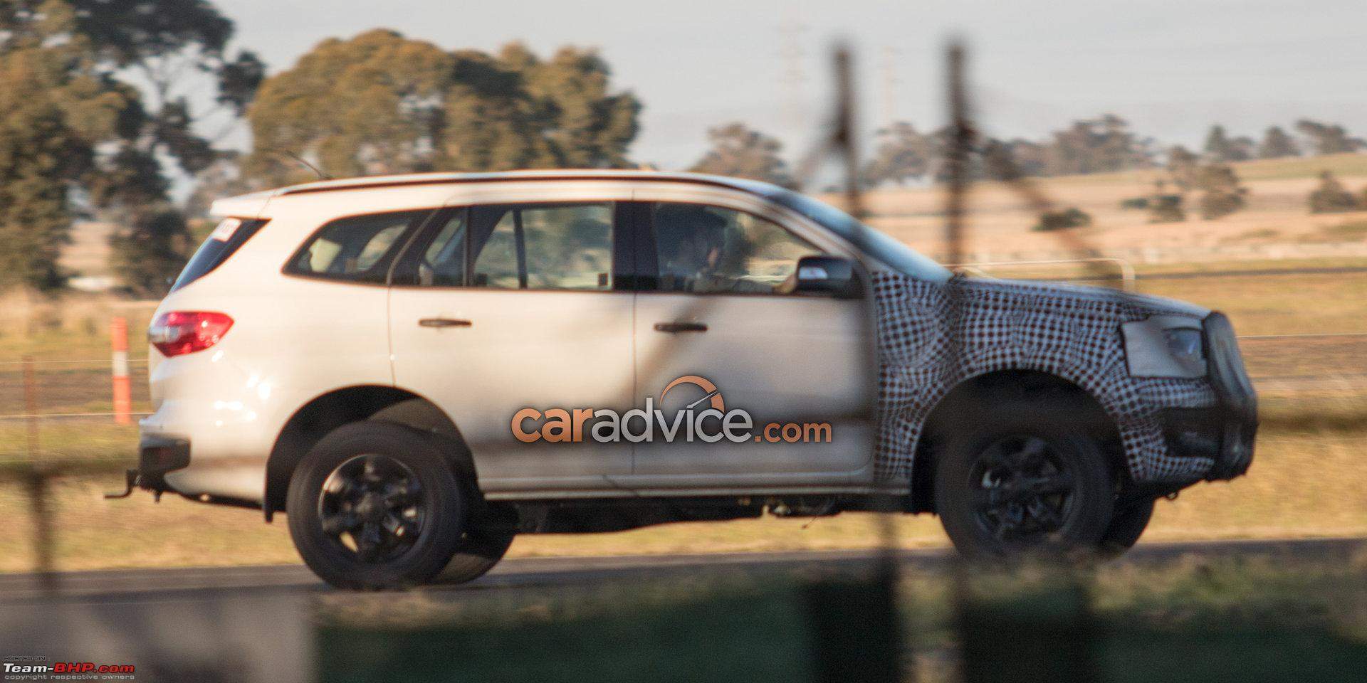Spied Ford Endeavour Everest Facelift Team Bhp