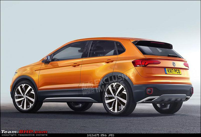 Rumour: Volkswagen T Cross. Compact Crossover based on Polo-polo_suv__rear_watermarked.jpg
