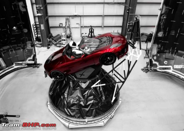 Quot Starman In Red Roadster Quot Tesla S Roadster About To