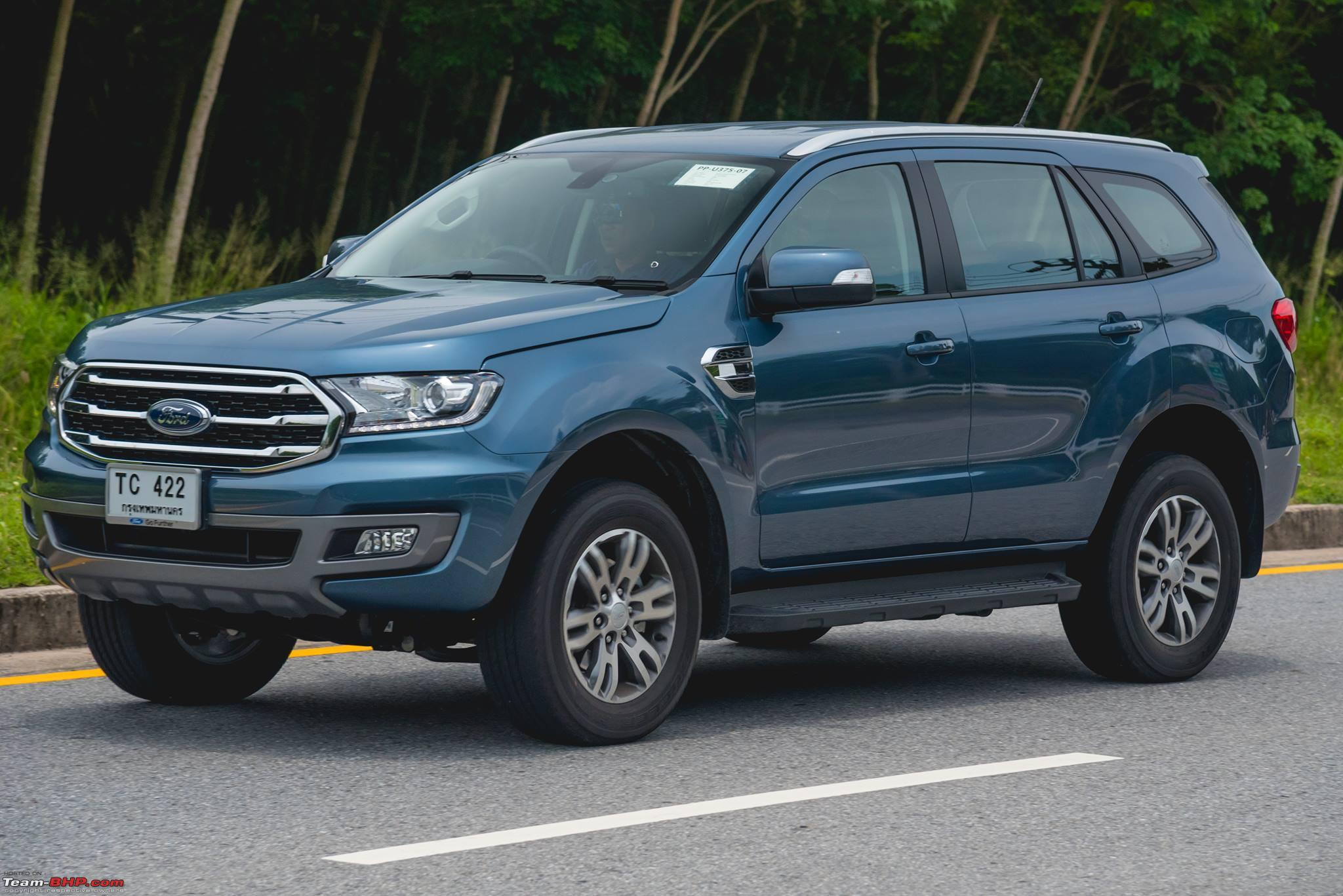 Ford Everest Facelift 2018 >> 2018 Ford Everest (Endeavour) spied completely undisguised - Team-BHP