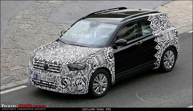 Volkswagen T Cross - A compact crossover based on the Polo. EDIT: Now unveiled-volkswagent4crossspyshots.jpg