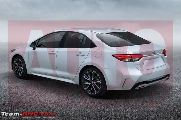 Spied All New 2019 Toyota Corolla Team Bhp