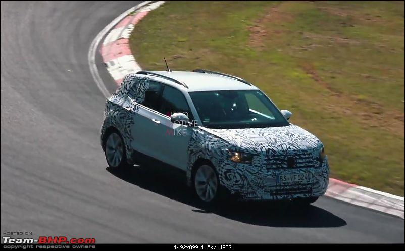 Volkswagen T Cross - A compact crossover based on the Polo. EDIT: Now unveiled-volkswagentcrossspiedatthenurburgringwillbebiginindia126971_1.jpg