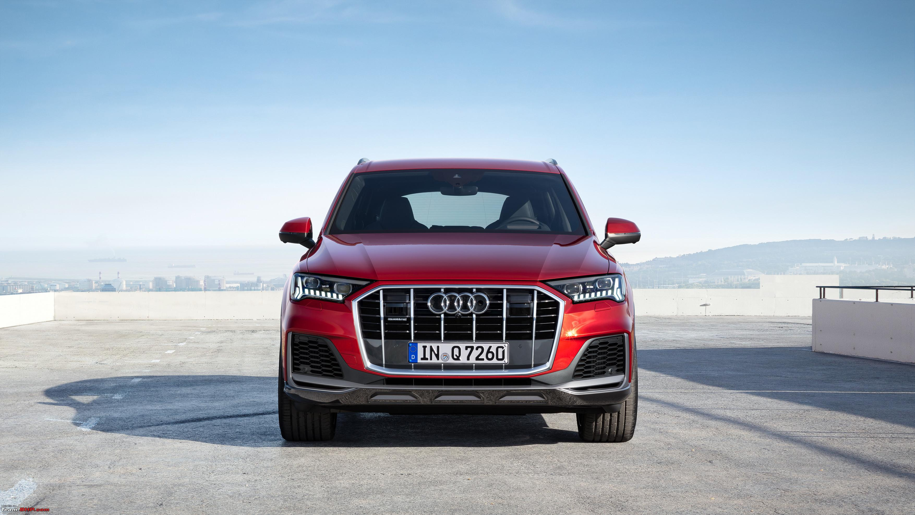 Audi Q7 facelift with mild-hybrid tech revealed - Team-BHP