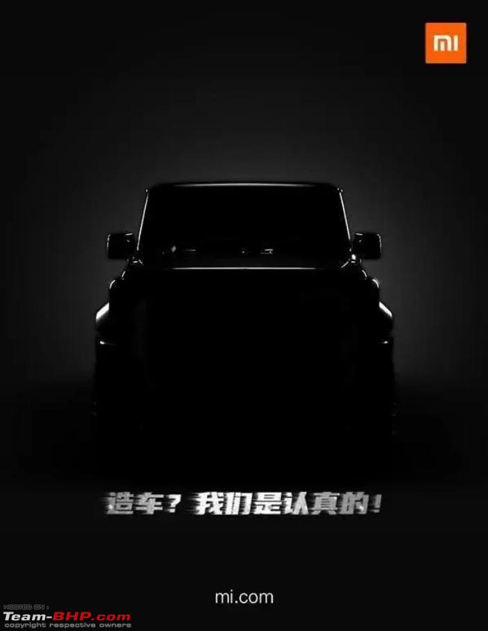 Xiaomi Releases Teaser Image Of A Car Could Either Make A Car Or Relevant Software Team Bhp